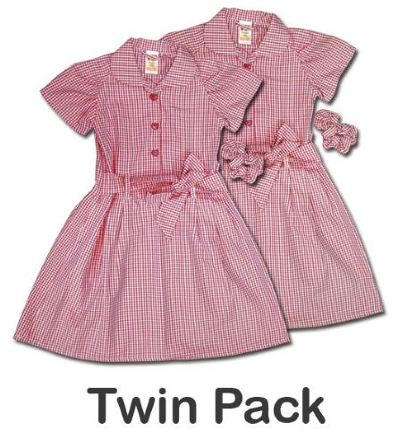 Red Gingham Summer Dress - Pack of 2